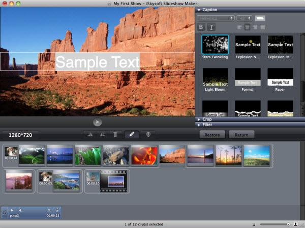 output slideshow